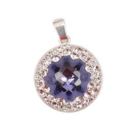 Pandantiv Queen Stone JellyFish Ceralun, Mov/Cristal, Argint 925, 20mm