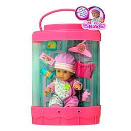 Set bebelus tip poseta, roz, cu accesorii, Micro Baby