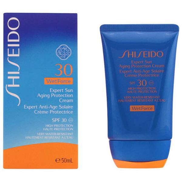 Crema Anti-Imbatranire cu Factor de Protectie Solara 30 - Shiseido Wet Force Expert Sun Aging Protection Cream SPF 30, 50ml imagine produs