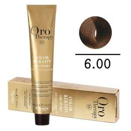 Vopsea fara amoniac - Fanola Oro Therapy Color Keratin-6.00 blond inchis intens