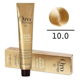 Vopsea fara amoniac - Fanola Oro Therapy Color Keratin-10.0 blond platinat extra