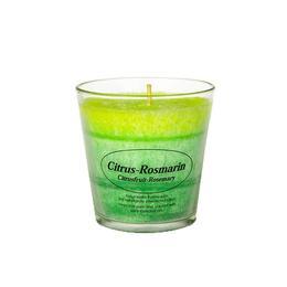 Lumanare parfumata in pahar, Biostearina, Lamaie+rozmarin