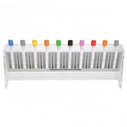 Stativ Vacutainer VSH Prima, gradatii 0 - 140, pentru 10 eprubete de 13 x 75mm