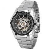 Ceas de lux barbatesc T-Winner mecanism automatic-mecanic bratara din otel inoxidabil stil Fashion