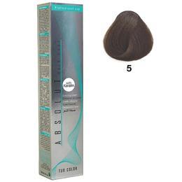 Vopsea Permanenta Absolut Hair Care Colouring Cream, nuanta 5 - Saten Deschis, 100ml