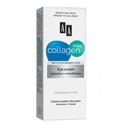 AA Collagen Hial+ Eye Cream Hydration + Smoothness ( Cremă pentru contur ochi- Hidratare/Finețe 15 ml )