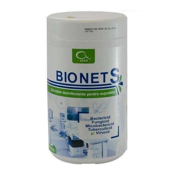 Pachet - 2 Bucati Bionet S ( 300 Buc ) Servetele Dezinfectant Suprafete imagine produs