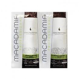 Pachet Hidratare Par Fin – Macadamia Weightless Moisture Duo Foil Pack: sampon (10ml), balsam par (10ml) de la esteto.ro