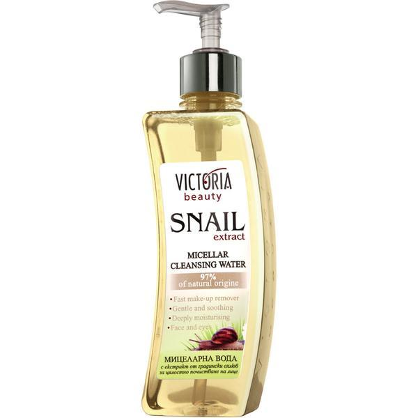 Apa demachianta micelara cu extract de melc Snail - Victoria Beauty - 400 ml imagine produs