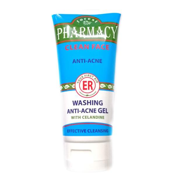 Gel de curatare antiacneic Farmacia Padurii - Gel Nettoyant Anti Acne Pharmacy Rosa Impex - 100 ml