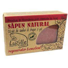Sapun natural cu ulei din samburi de struguri si goji - regenerator & emolient, Lucille, 90 g