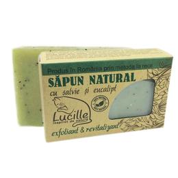 Sapun natural cu salvie si eucalipt - exfoliant si revitalizant, Lucille, 90 g