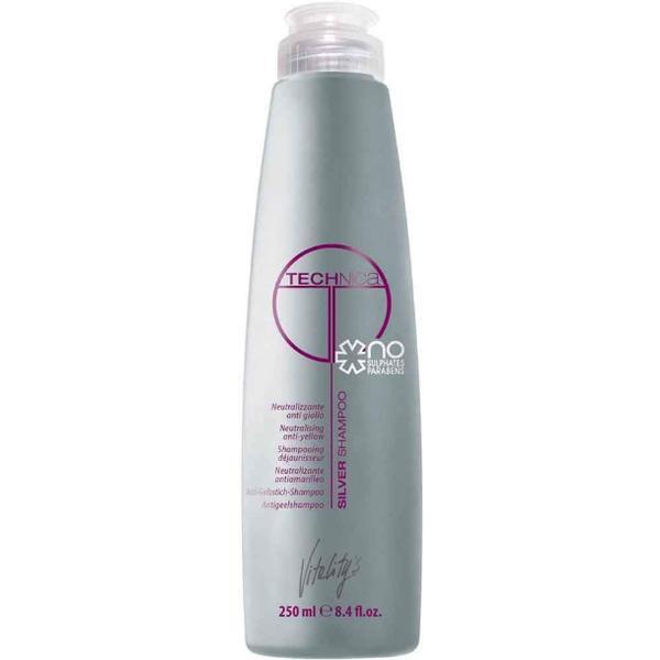 Sampon pentru Par Alb, Blond sau Grizonat - Vitality's Technica Silver Shampoo Neutralising Anti-Yellow, 250ml imagine produs
