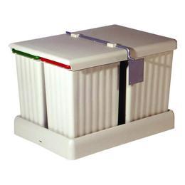 Cos de gunoi Pulse 3C incorporabil in sertar, cu 2 recipiente x 7.5 L si 1 recipient x16 L - Maxdeco