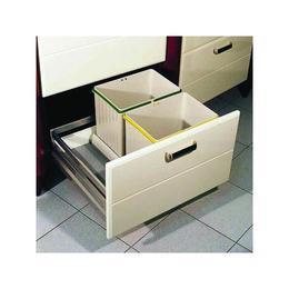 Cos de gunoi Pulse 2C incorporabil in sertar, cu 2 recipiente x 16 L, pentru corp de 400 mm latime - Maxdeco