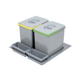 Cos de gunoi Praktico incorporabil in sertar, cu 2 recipiente, pentru corp de 600 mm latime H:300 mm - Maxdeco