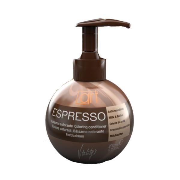 Balsam Colorant - Vitality's Espresso Art Colouring Conditioner - Milk & Coffee, 200ml imagine produs