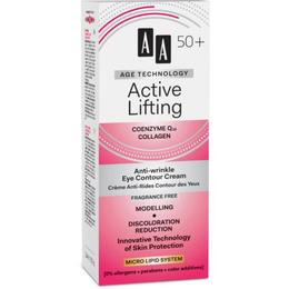 Crema antirid pentru contur ochi AA Age Technology +50 Active Lifting Anti-Wrinkle Eye Contour Cream 15 ML