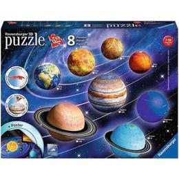 Puzzle 3D Sistemul Solar, 27/54/72/108 Piese - Ravensburger