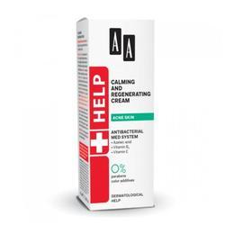Crema pentru ingrijirea/regenerarea tenului acneic AA Help Calming&Regenerating Cream 40 ML