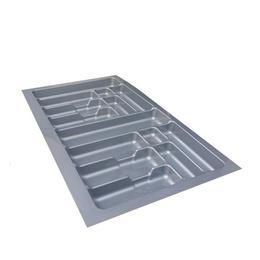 Suport organizare tacamuri, gri, pentru latime corp 900 mm, montabil in sertar de bucatarie - Maxdeco