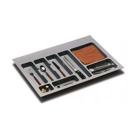 Suport organizare tacamuri, gri orion, pentru latime corp 800 mm, montabil in sertar bucatarie - Maxdeco