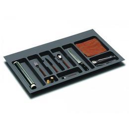 Suport organizare tacamuri, gri orion, pentru latime corp 900 mm, montabil in sertar bucatarie - Maxdeco