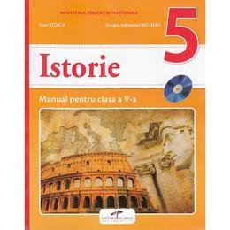 Istorie - Clasa 5 - Manual + CD - Stan Stoica, Dragos Sebastian Becheru, editura Cd Press