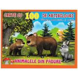 Animalele din padure - Carte cu 100 de abtibilduri, editura Biblion