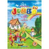 Carte de colorat Jumbo cu povesti si abtibilduri, editura Eurobookids