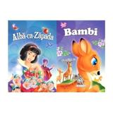 2 Povesti: Alba-ca-zapada si Bambi, editura Girasol