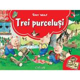 Trei purcelusi. Carte Pop-up - Tony Wolf, editura Crisan