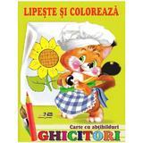 Ghicitori - Veverita - Lipeste si coloreaza. Carte cu abtibilduri, editura Biblion