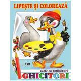 Ghicitori - Gasca - Lipeste si coloreaza. Carte cu abtibilduri, editura Biblion