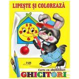 Ghicitori - Iepure - Lipeste si coloreaza. Carte cu abtibilduri, editura Biblion