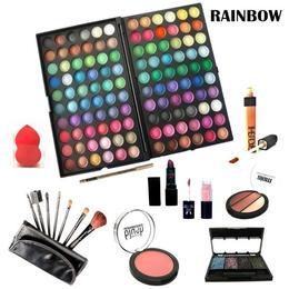 Kit makeup cu trusa 120 de culori nr 03 Rainbow