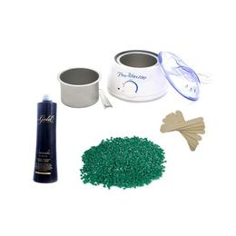 Kit de epilat Incalzitor + ceara granule Azulen Verde - Miley