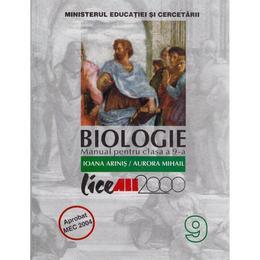 Manual biologie Clasa 9 - Ioana Arinis, Aurora Mihail, editura All