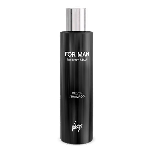 Sampon pentru Par Blond, Alb sau Grizonat - Vitality's For Man Silver Shampoo, 240ml imagine produs