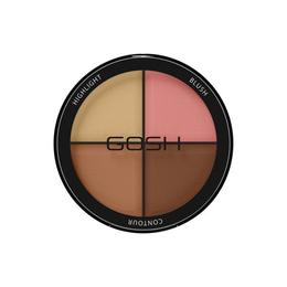 Paleta fard de obraz pentru contur si iluminare Gosh Cosmetic Contour&Strobe Kit 002 Medium, 15 g