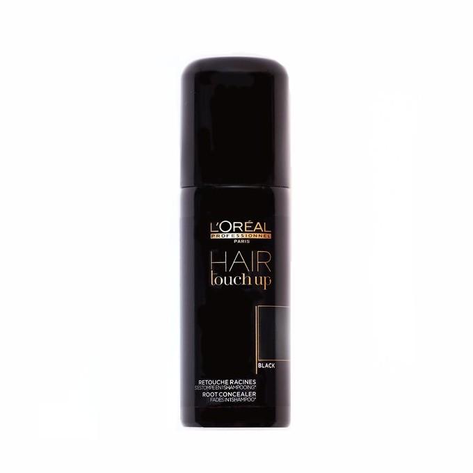 Spray Corector Pigment Negru - L'Oreal Professionnel Hair Touch Up Spray Black, 75ml imagine produs