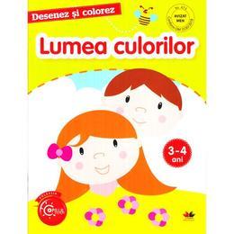 Desenez si colorez. Lumea culorilor 3-4 ani, editura Litera