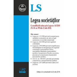 Legea Societatilor Act. 22 Iunie 2018, editura Rosetti