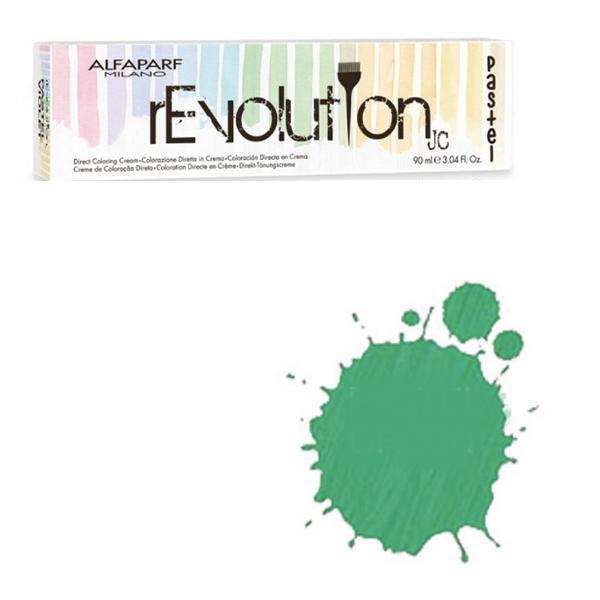 Crema Colorare Directa Verde Pastel - Alfaparf Milano Jean's Color rEvolution Direct Coloring Cream PASTEL GREEN 90 ml imagine produs