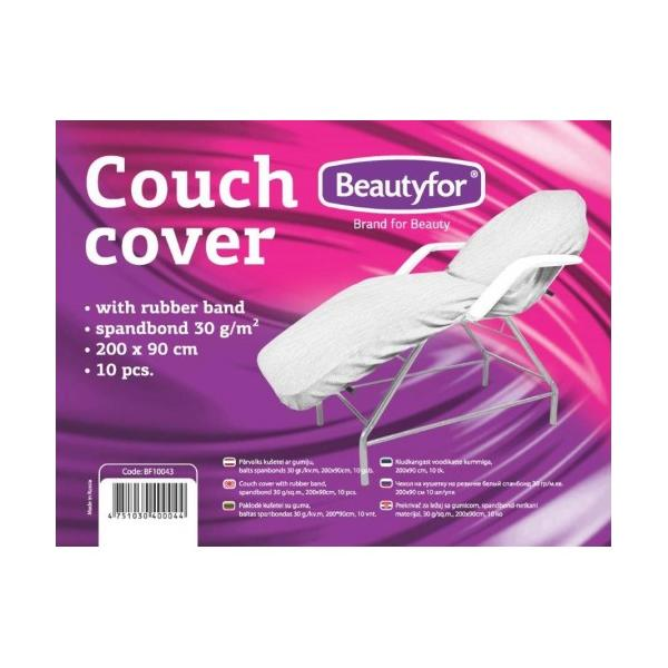 Cearceaf cu Banda Elastica - Beautyfor Couch Cover with Rubber Band, 200 x 90cm, 10 buc imagine produs