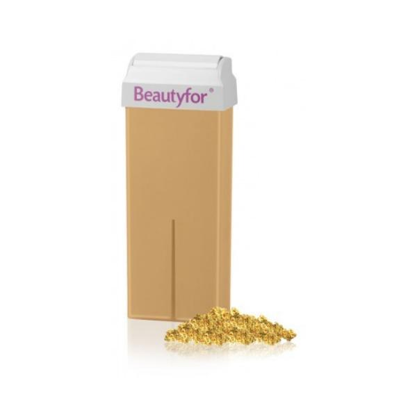 Ceara Epilatoare Roll-On de Unica Folosinta - Beautyfor Wax Roll-On Cartridge, Micromica Gold, 100ml imagine produs