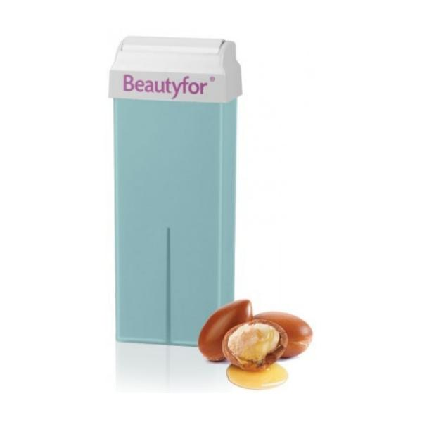 Ceara Epilatoare Roll-On de Unica Folosinta - Beautyfor Wax Roll-On Cartridge, Ulei de Argan, 100ml imagine produs