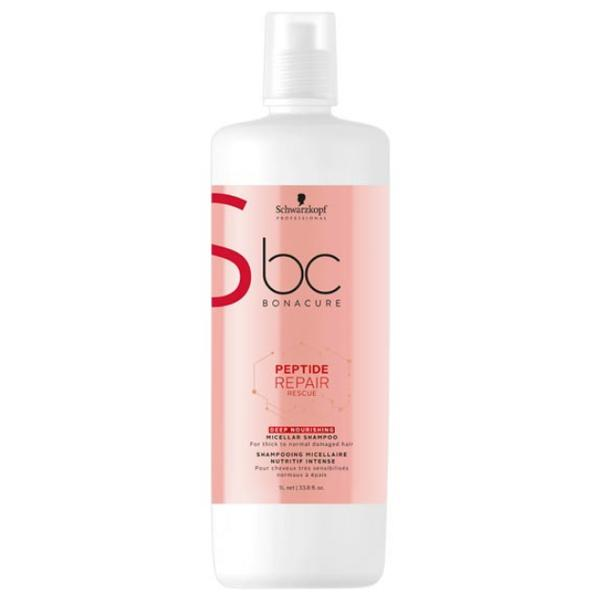 Sampon Micelar Reparator Intens Nutritiv - Schwarzkopf BC Bonacure Peptide Repair Rescue Deep Nourishing Micellar Shampoo, 1000ml