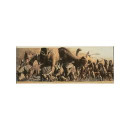 Poster deluxe tip panorama Safari LTD - Dinozauri si Animale ale junglei