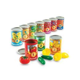 Numara conservele - Set invatare fructe, cifre si culori - Learning Resources